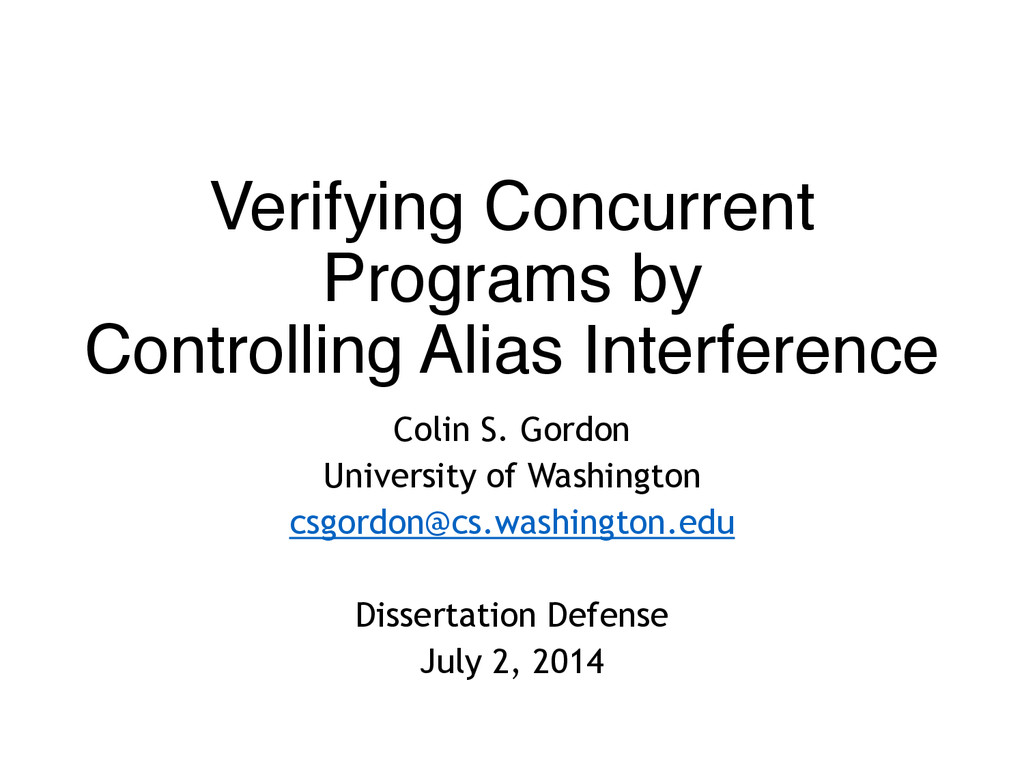 Verifying Concurrent Programs by  Controlling ...