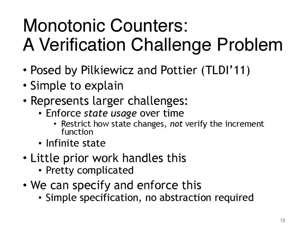 Monotonic Counters: A Verification Challenge P...