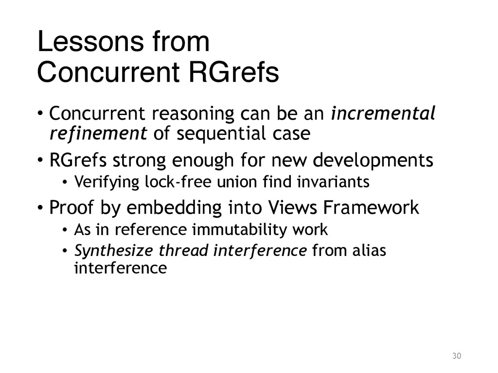 Lessons from Concurrent RGrefs • Concurrent re...