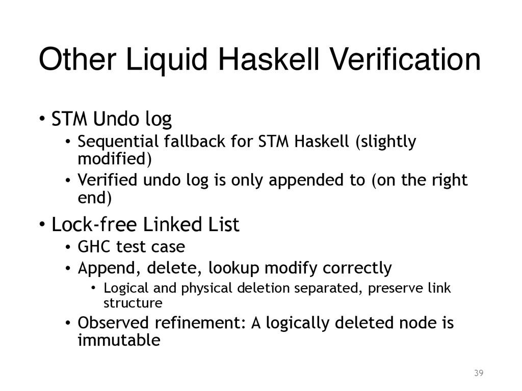 Other Liquid Haskell Verification • STM Undo lo...