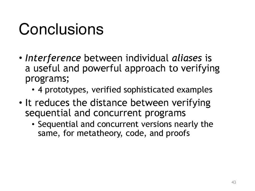 Conclusions • Interference between individual a...