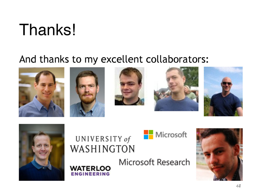 Thanks! And thanks to my excellent collaborator...