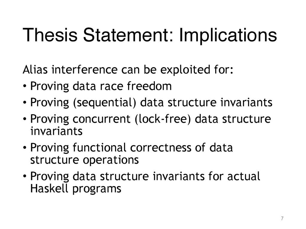 Thesis Statement: Implications Alias interferen...