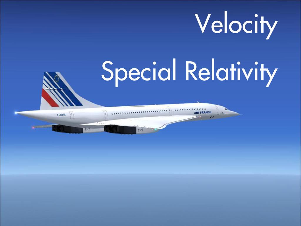 Velocity Special Relativity