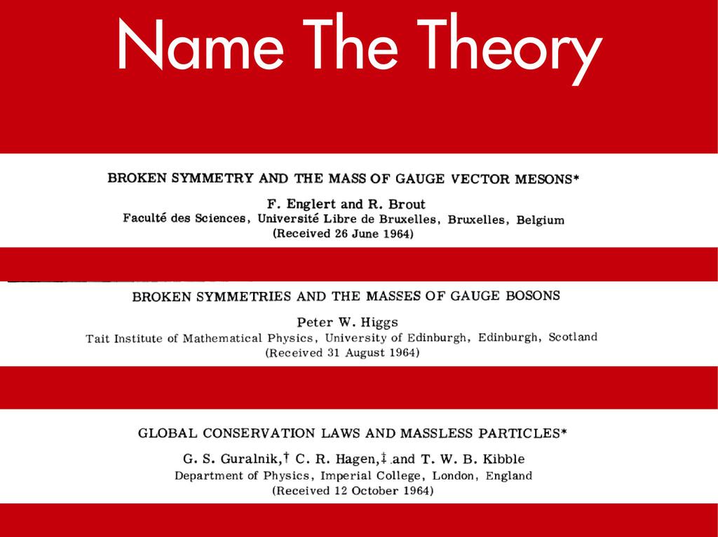 Name The Theory