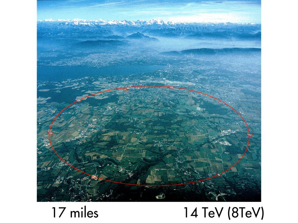 17 miles 14 TeV (8TeV)