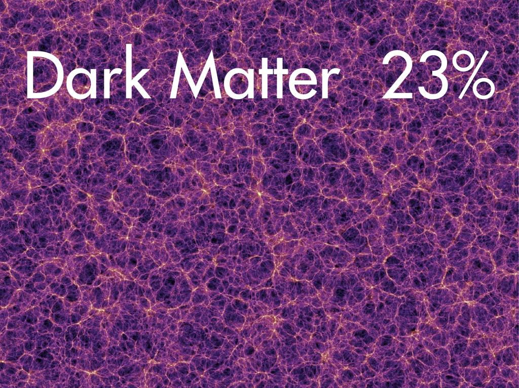 Dark Matter 23%
