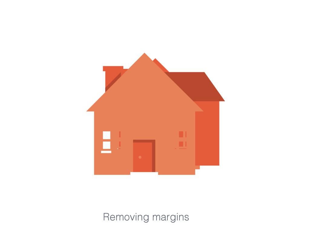 Removing margins