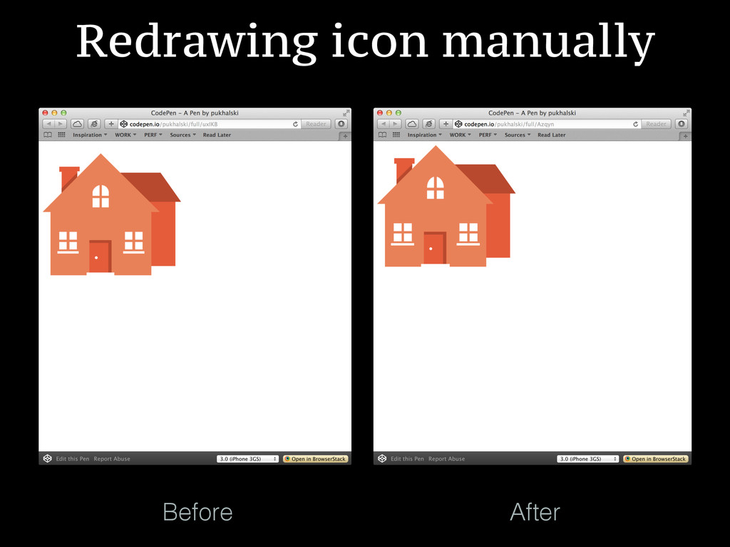 Before After Redrawing icon manually