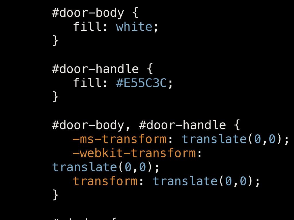 ! #door-body { fill: white; } ! #door-handle { ...