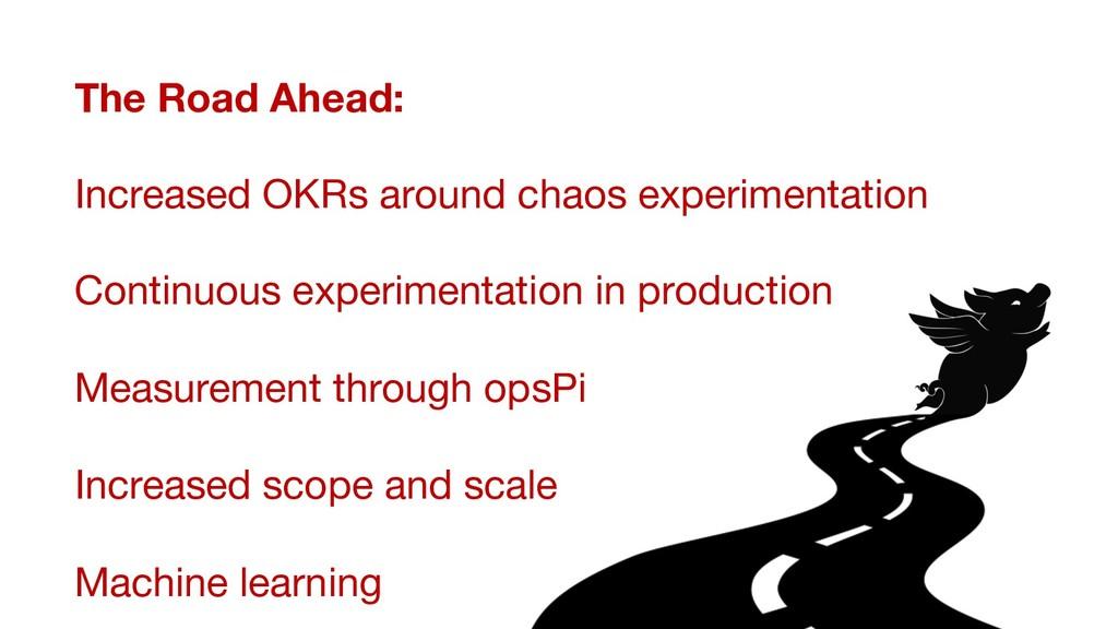 The Road Ahead:  Increased OKRs around chaos e...