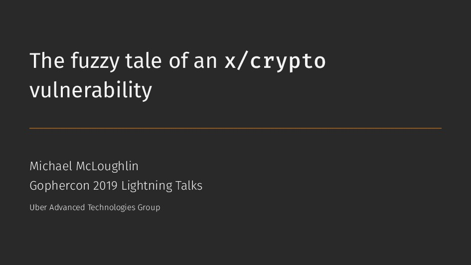 The fuzzy tale of an x/crypto vulnerability Mic...