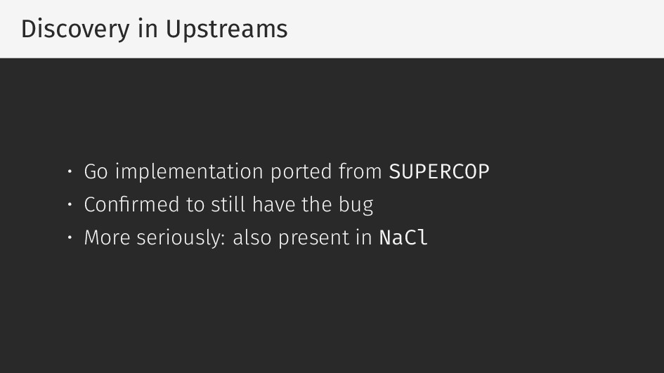 Discovery in Upstreams • Go implementation port...