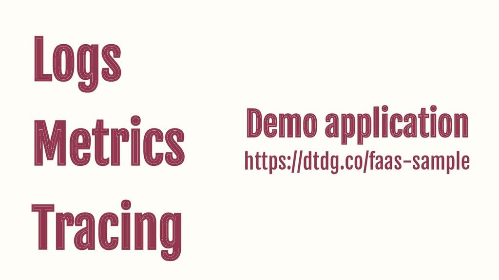 Logs Metrics Tracing Demo application https://d...