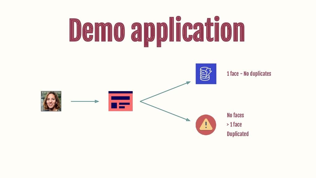 Demo application 1 face - No duplicates No face...