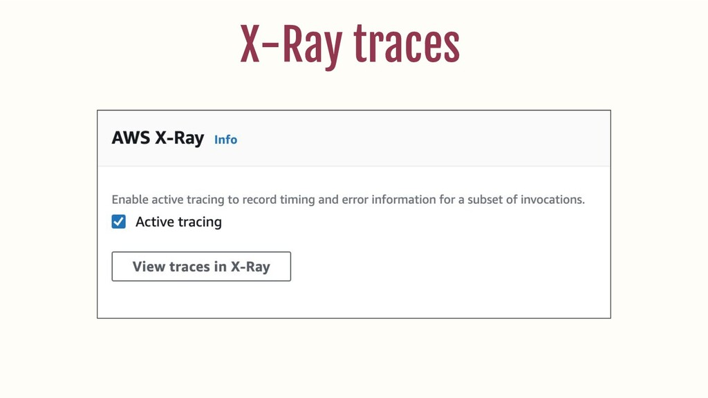 X-Ray traces