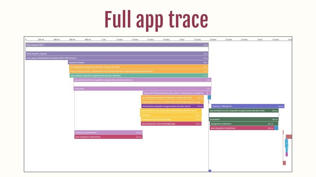 Full app trace