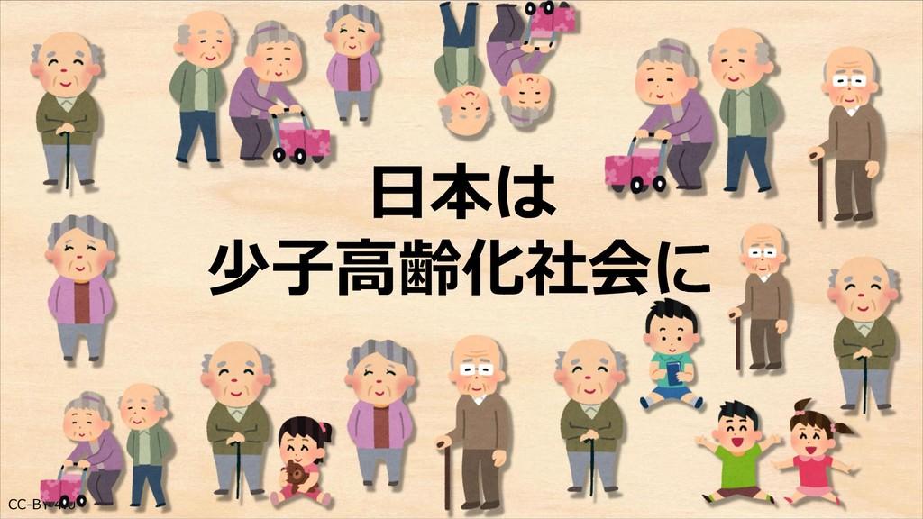CC-BY 4.0 日本は 少子高齢化社会に