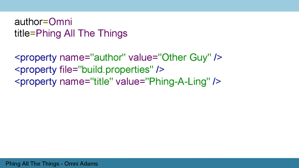 Phing All The Things - Omni Adams author=Omni t...