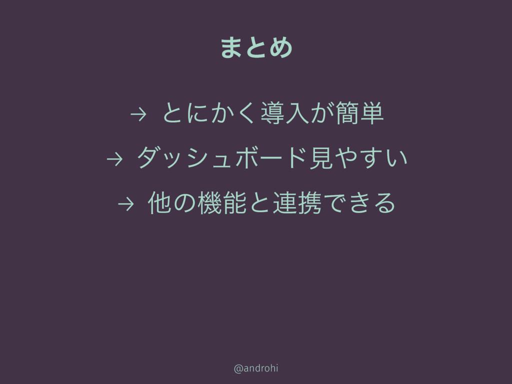 ·ͱΊ → ͱʹ͔͘ಋೖ͕؆୯ → μογϡϘʔυݟ͍͢ → ଞͷػͱ࿈ܞͰ͖Δ @and...