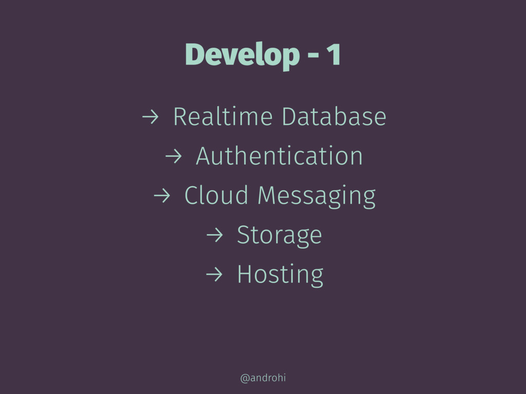 Develop - 1 → Realtime Database → Authenticatio...