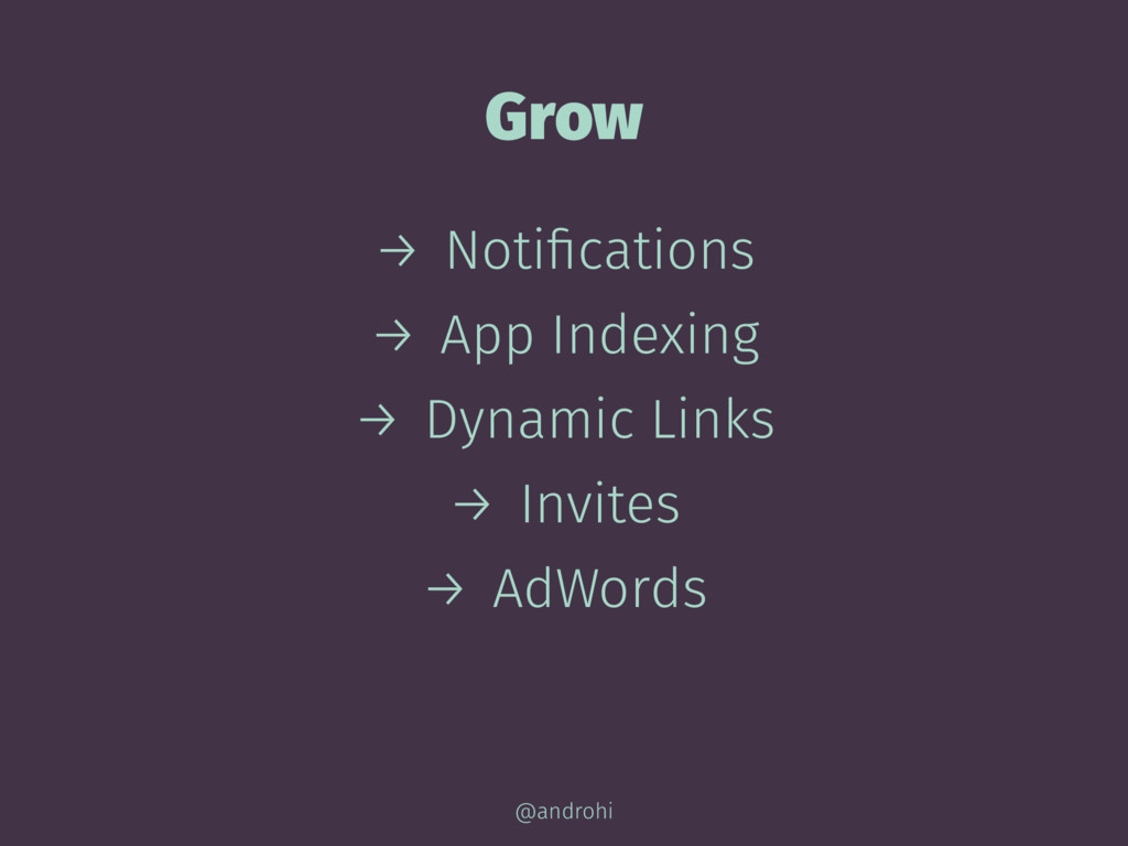 Grow → Notifications → App Indexing → Dynamic Li...