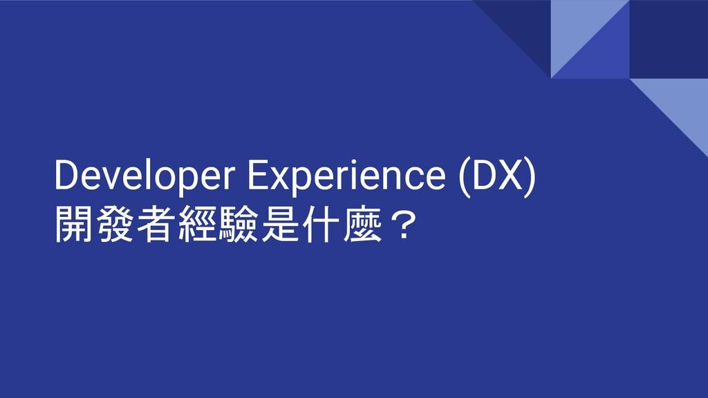 Developer Experience (DX) 開發者經驗是什麼?