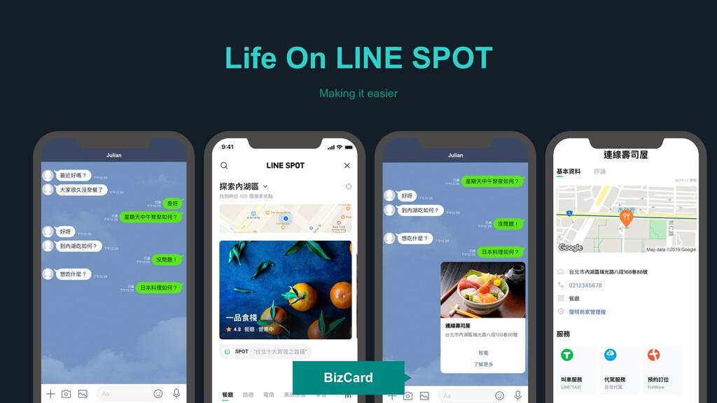蝫娄䄓ݪ Life On LINE SPOT Making it easier Julian...