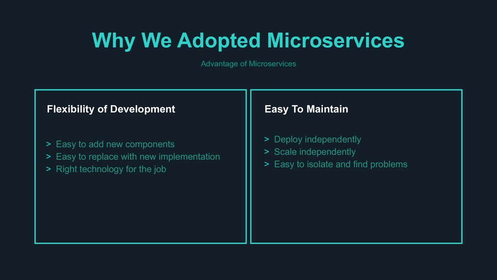 Why We Adopted Microservices Advantage of Micro...