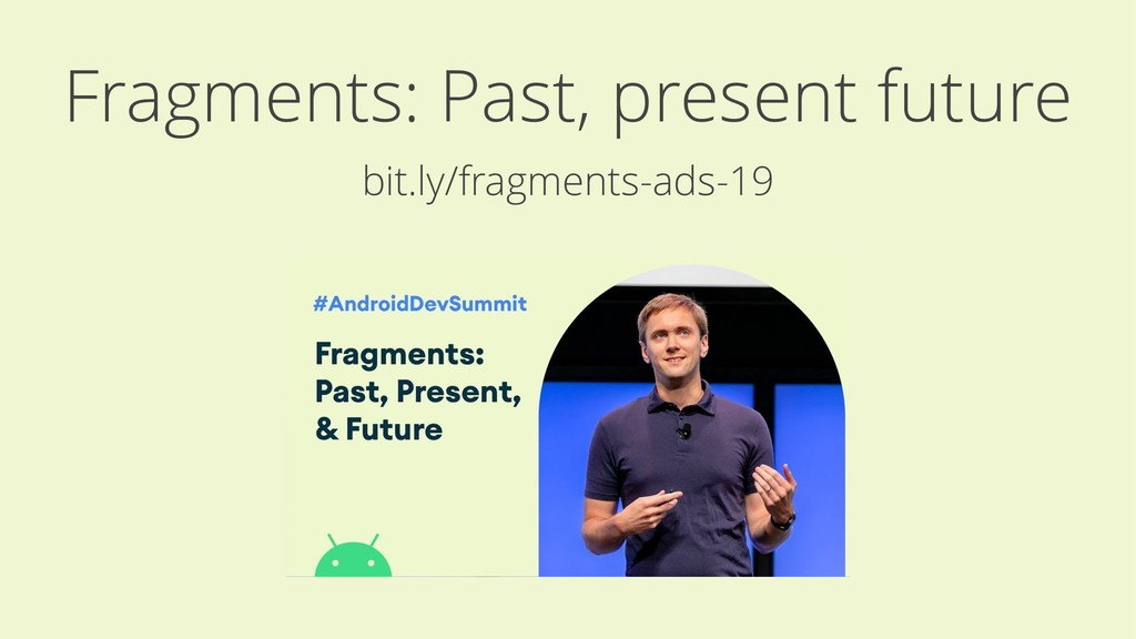 Fragments: Past, present future bit.ly/fragment...