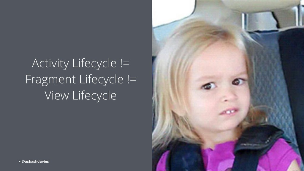Activity Lifecycle != Fragment Lifecycle != Vie...