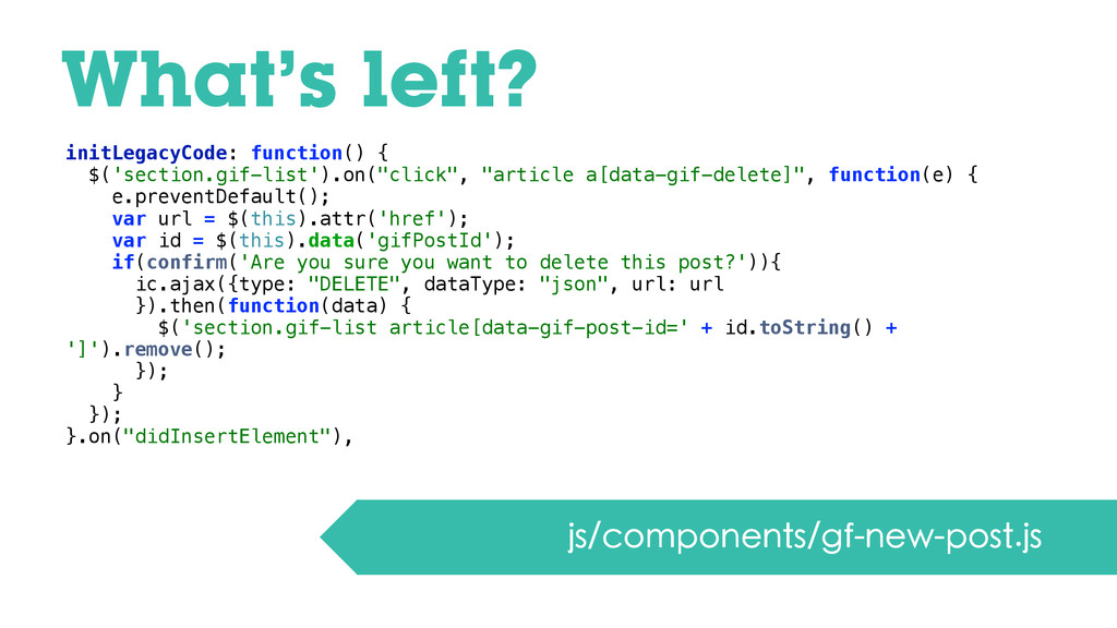 What's left? js/components/gf-new-post.js initL...