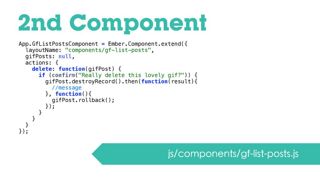 2nd Component js/components/gf-list-posts.js Ap...