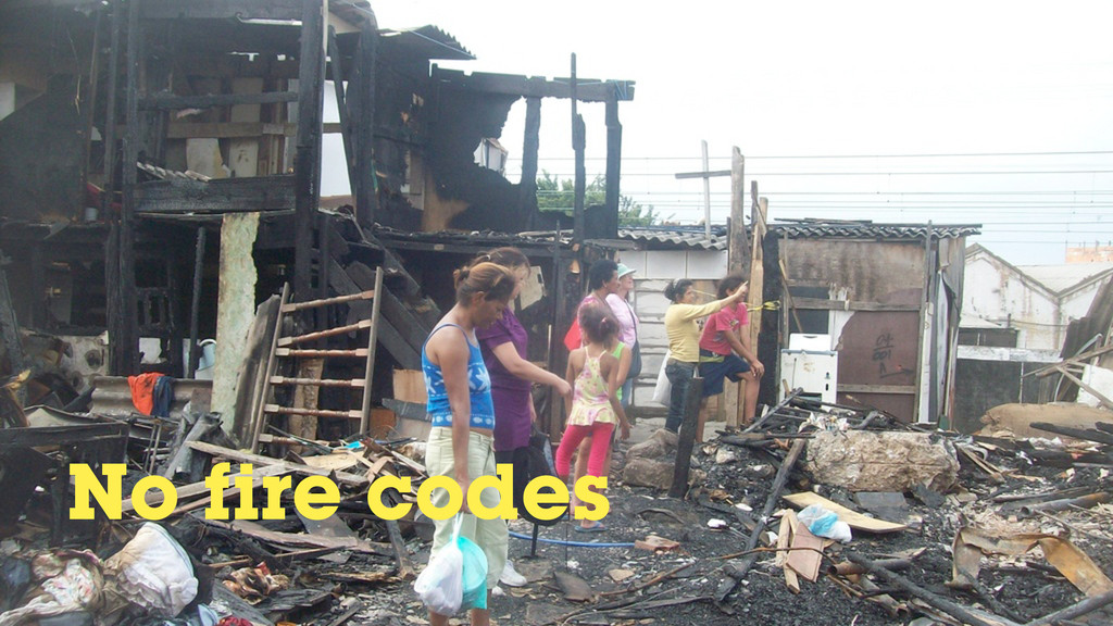 No fire codes