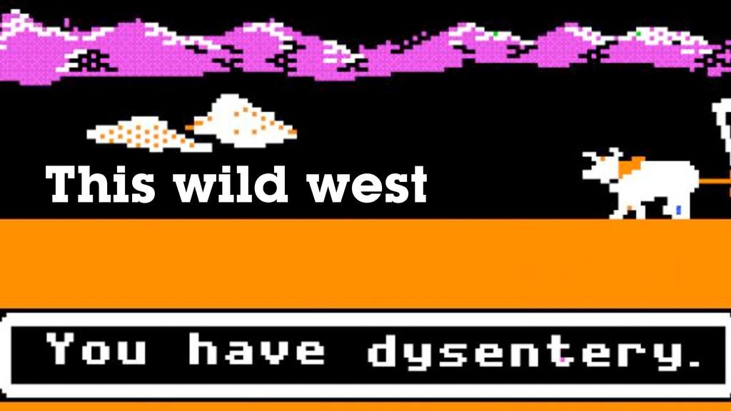 This wild west