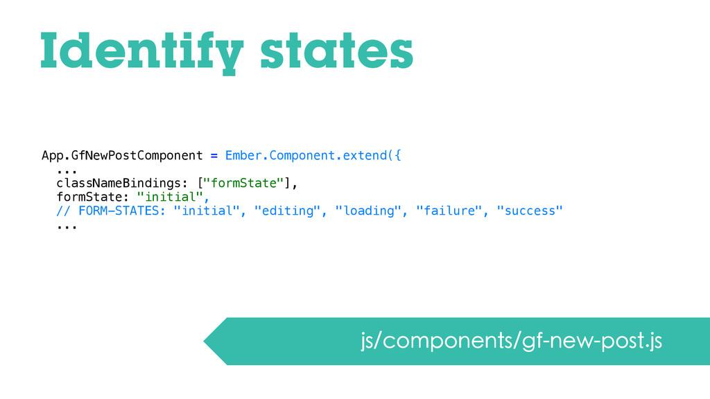 Identify states js/components/gf-new-post.js Ap...