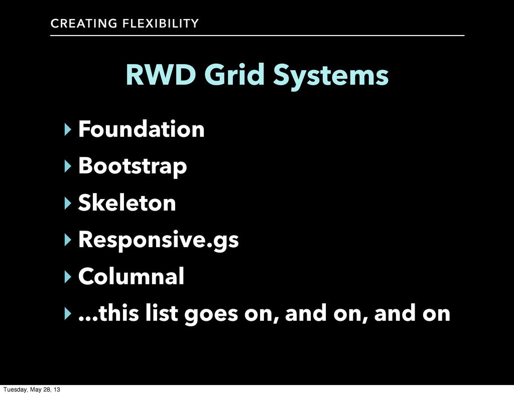 CREATING FLEXIBILITY RWD Grid Systems ‣ Foundat...