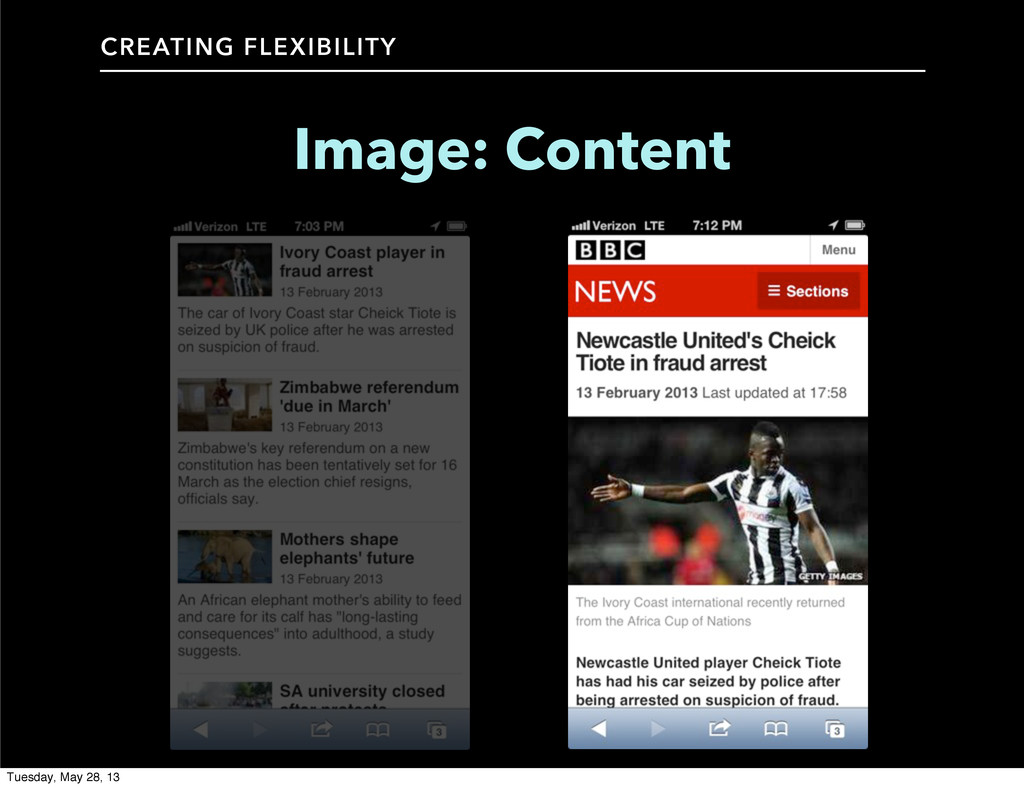 CREATING FLEXIBILITY Image: Content Tuesday, Ma...