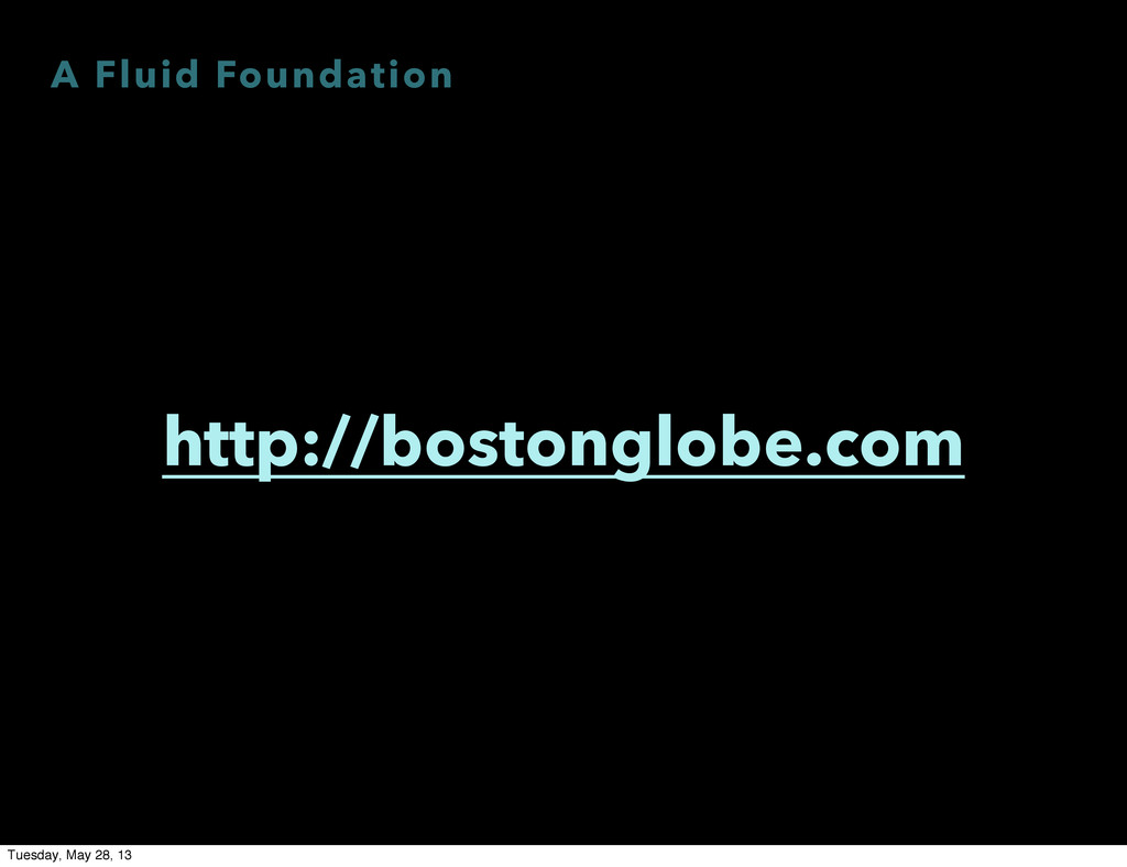 A Fluid Foundation http://bostonglobe.com Tuesd...