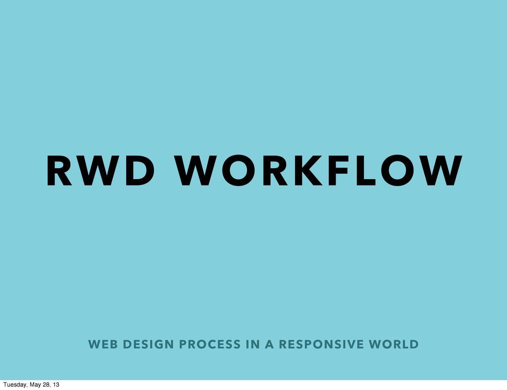 WEB DESIGN PROCESS IN A RESPONSIVE WORLD RWD WO...