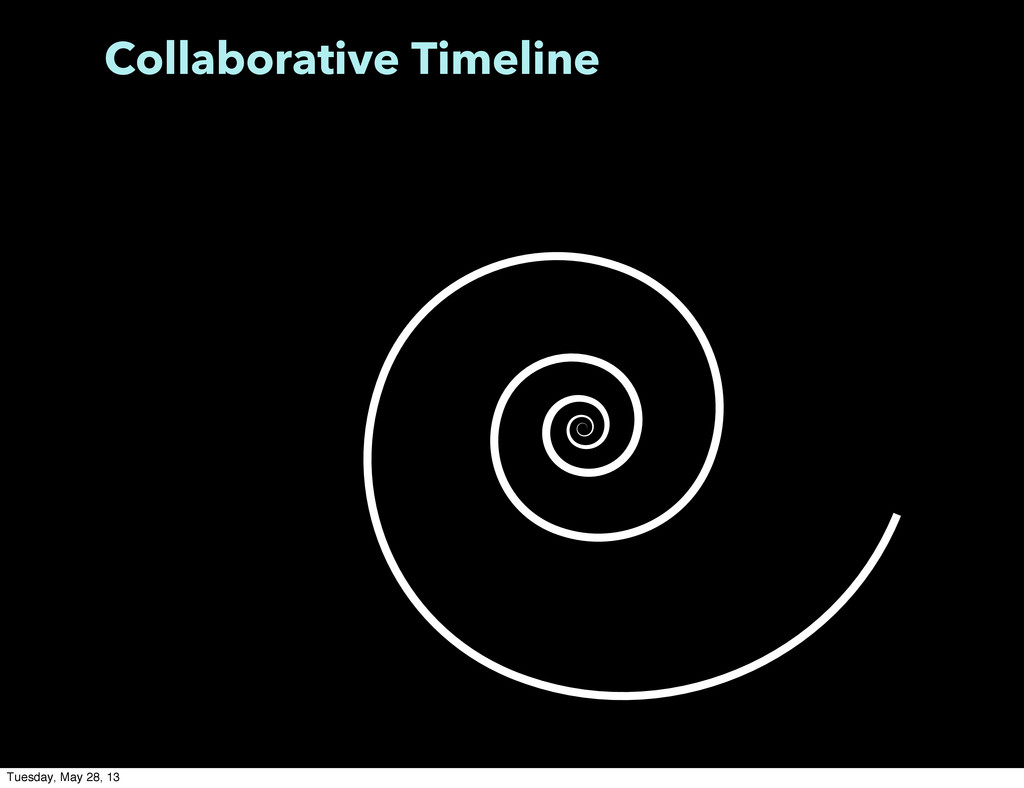 Collaborative Timeline Tuesday, May 28, 13