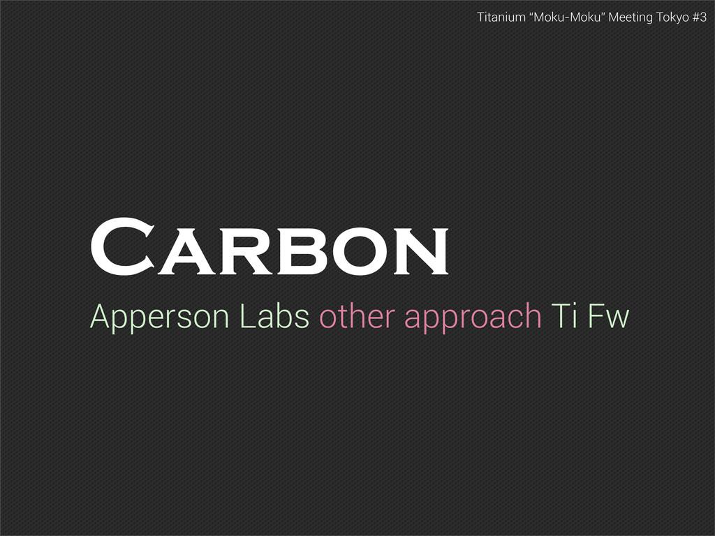 """Titanium """"Moku-Moku"""" Meeting Tokyo #3 Carbon Ap..."""
