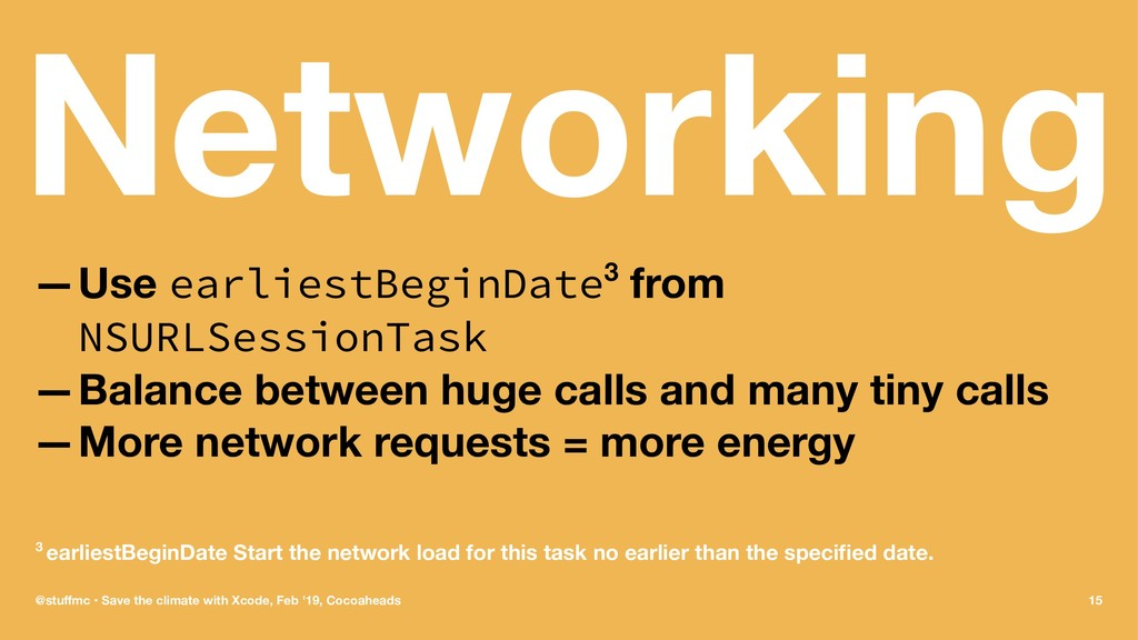 Networking —Use earliestBeginDate3 from NSURLSe...