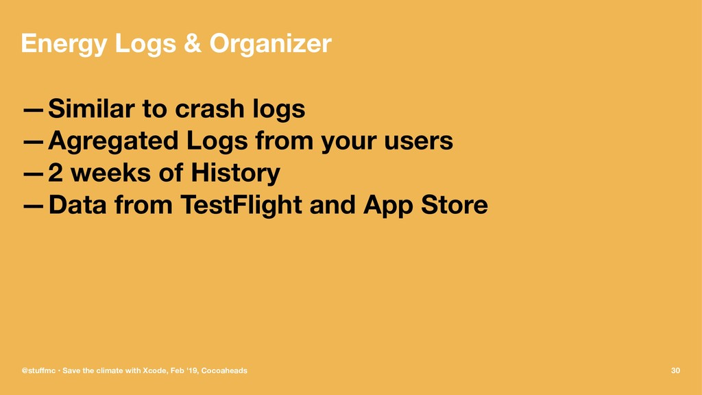 Energy Logs & Organizer —Similar to crash logs ...