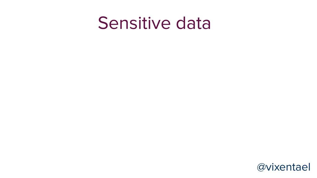 Sensitive data @vixentael @vixentael