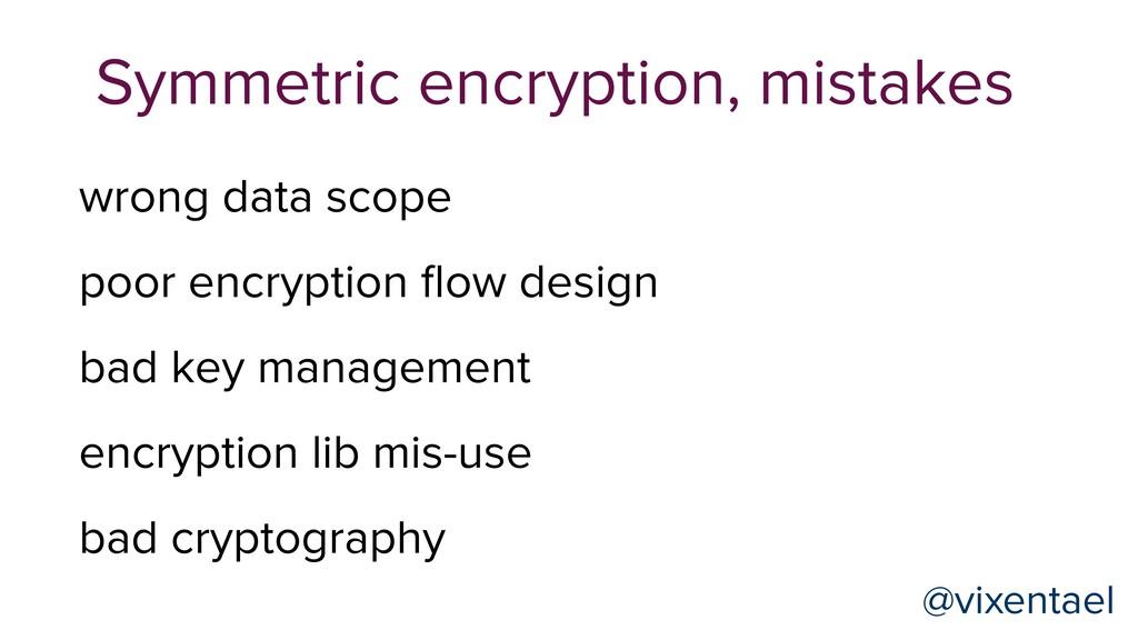 Symmetric encryption, mistakes @vixentael @vixe...