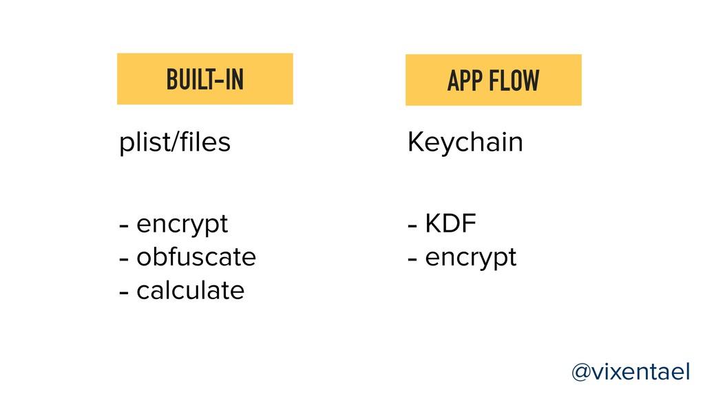 APP FLOW BUILT-IN Keychain - KDF - encrypt @vix...