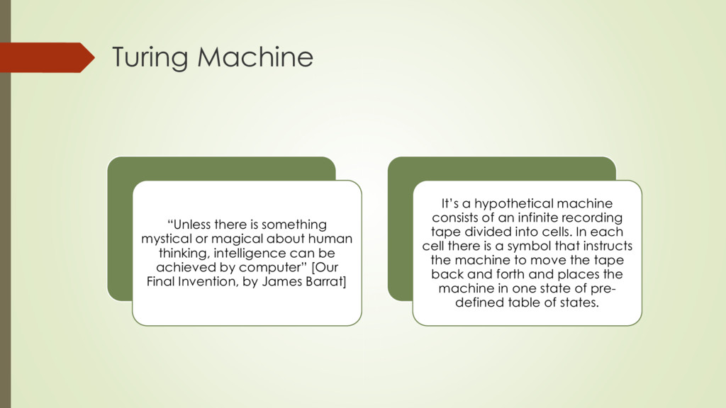 "Turing Machine ""Unless there is something mysti..."
