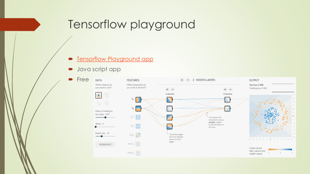 Tensorflow playground  Tensorflow Playground a...