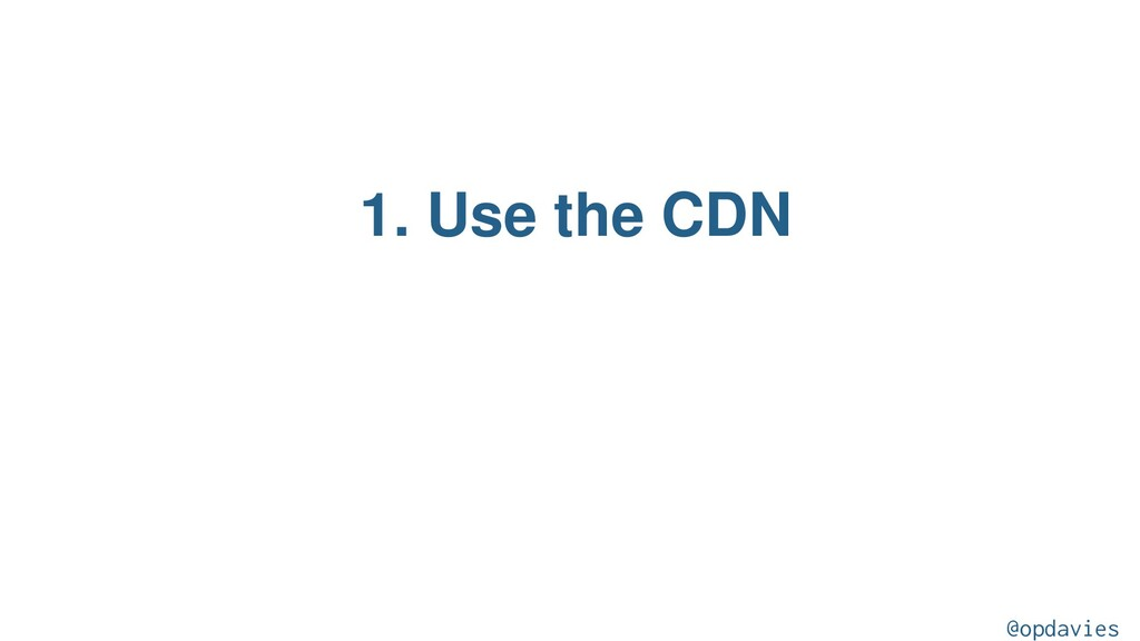 1. Use the CDN @opdavies